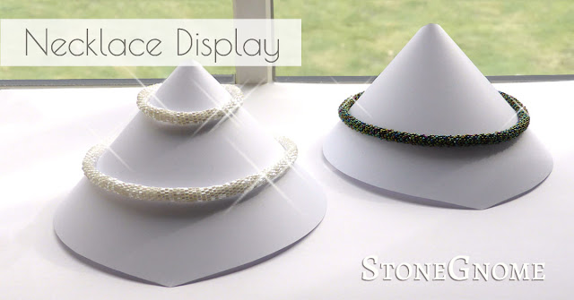 Necklace Display - for Beaded Crochet Necklaces