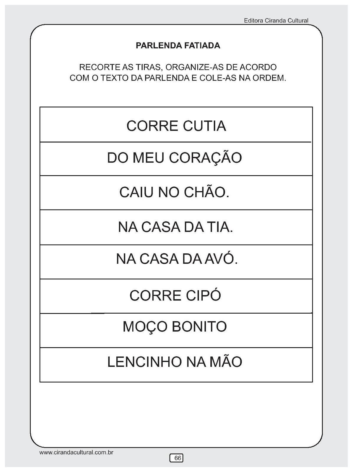 Educacao Infantil Atividades De Alfabetizacao Para Imprimir Viii