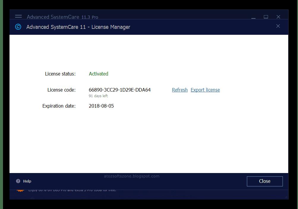 advanced systemcare free key