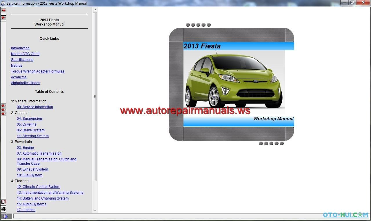 Free Auto Repair Manual Workshop Manual Ford Motor