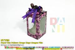 Paper Box Pattern Bunga Ungu Dengan Pita