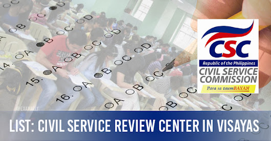 List : Civil Service Exam Review Centers in Visayas #CSE-PPT ~ Exam Ally