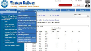 Western Rail Waiting List Clearance Position Find Page