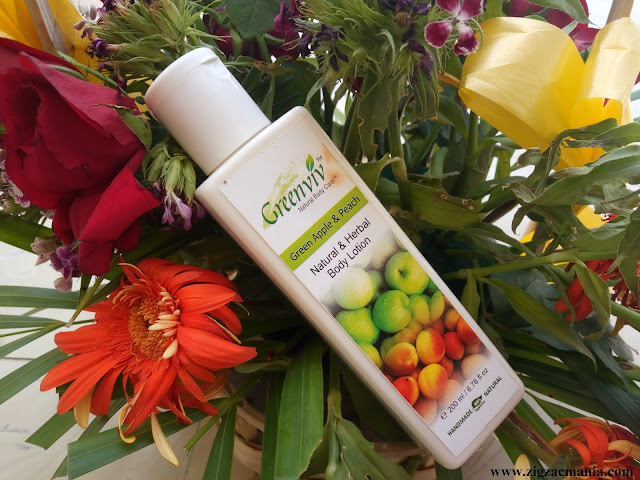 GreenViv Green Apple & Peach  Body Lotion Review