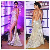 Nia Sharma Wardrobe malfunction Zee Gold AWards 2016