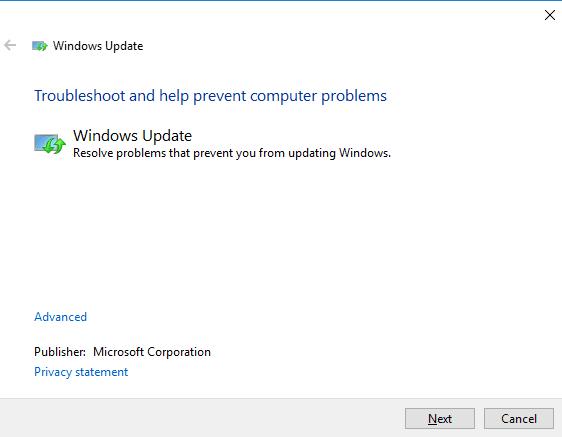 Memperbaiki Windows Update