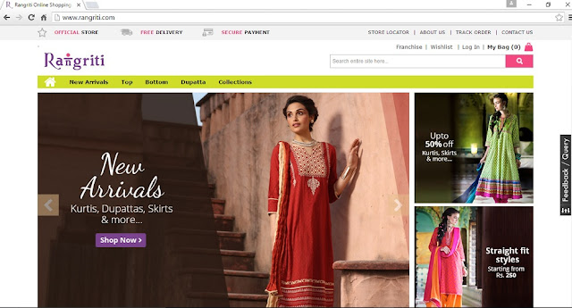 Online Shopping Portal for Women, Ethinic Wear
