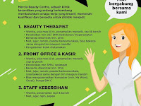 lowongan kerja front office mercia beauty center