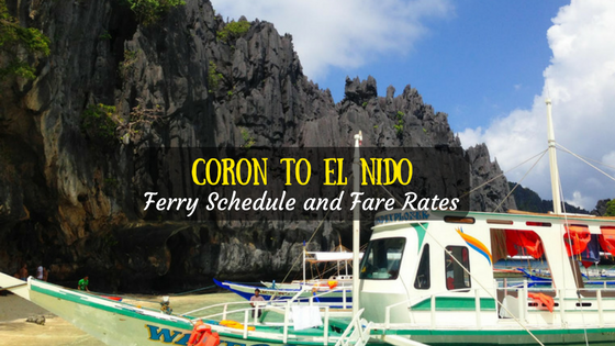 Coron to El Nido Ferry Schedule and Fare Rates