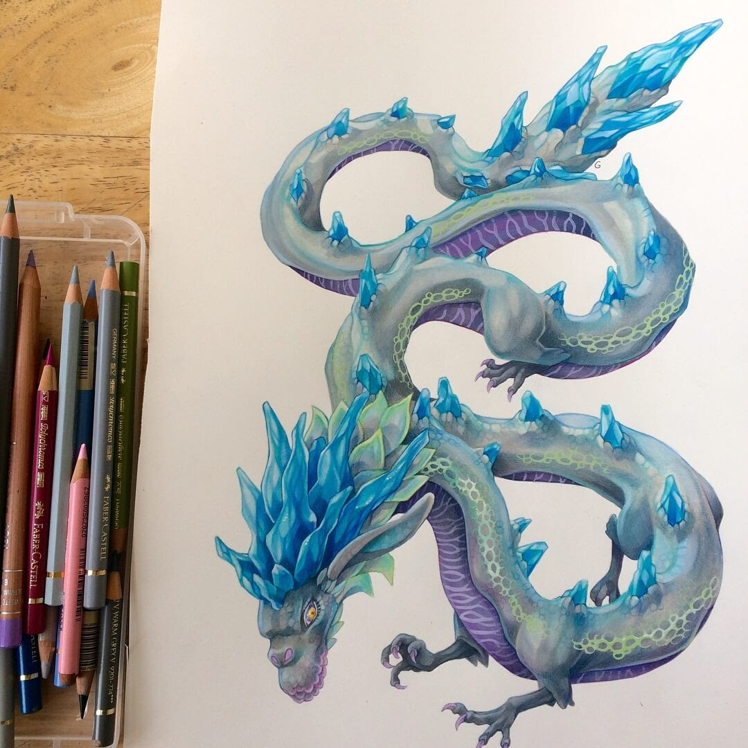 08-Naydra-Dragon-Grace-Fantasy-Animals-Colored-Pencils-Drawings-www-designstack-co