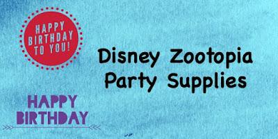 Disney Zootopia Party Supplies