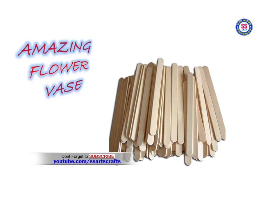 Ice Cream Stick Flower Vase