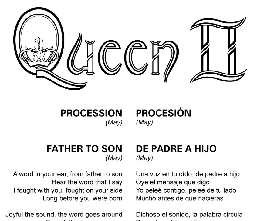 Letras Traducidas - Queen II