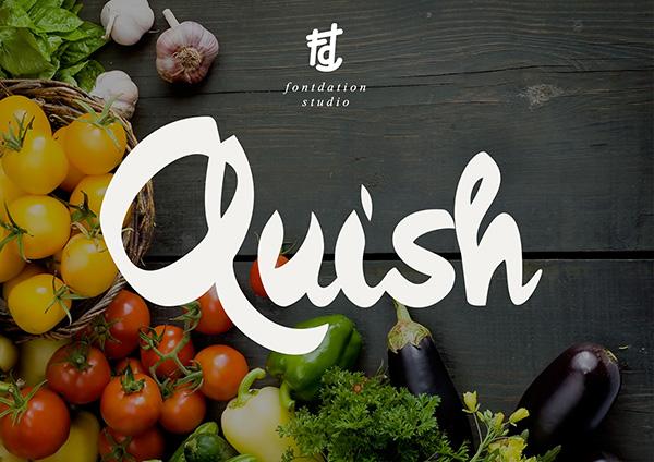 20 Script Font Terbaik 2016 - Quish Typeface