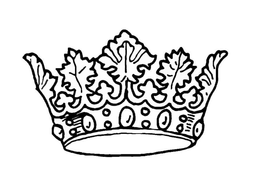 Los Dibujos Para Colorear Dibujo De Corona Para Colorear E