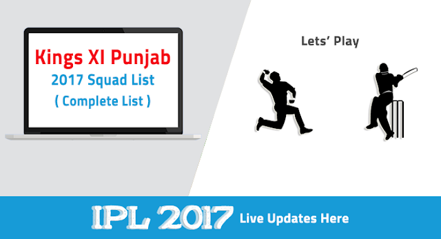 KXIP Team Squad List For IPL 10 2017
