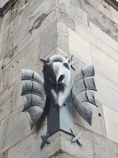 Devil on the Aachen Cathedral wall