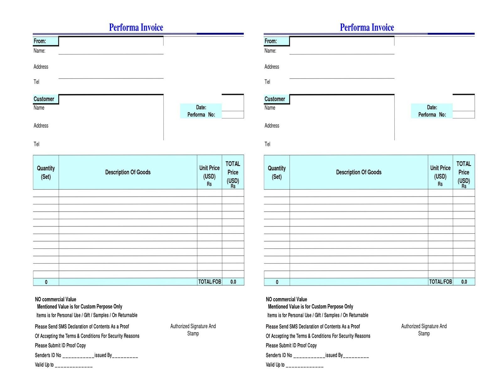 Sample Declaration Letter Format For Courier