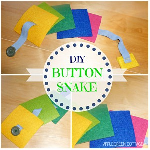 How To Sew a Felt Button Snake