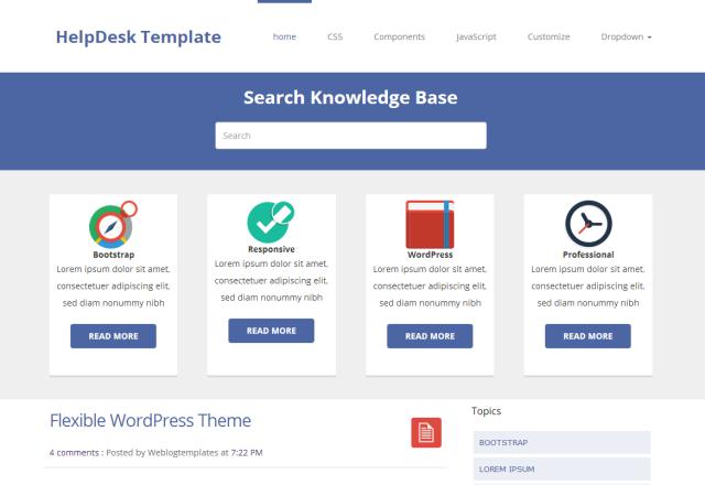 HelpDesk Blogger Theme