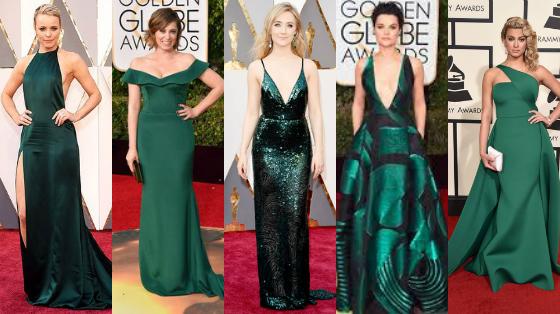 vestidos verde esmeralda