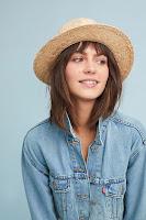 Девушка в соломенной шляпе федоре