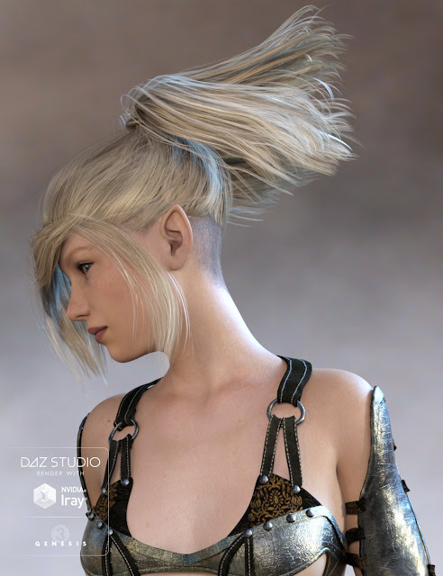 Batibat Hair for Genesis 3 Female