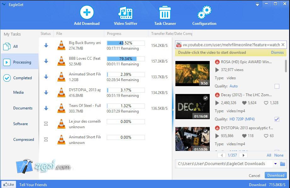 Eagle get internet download manager