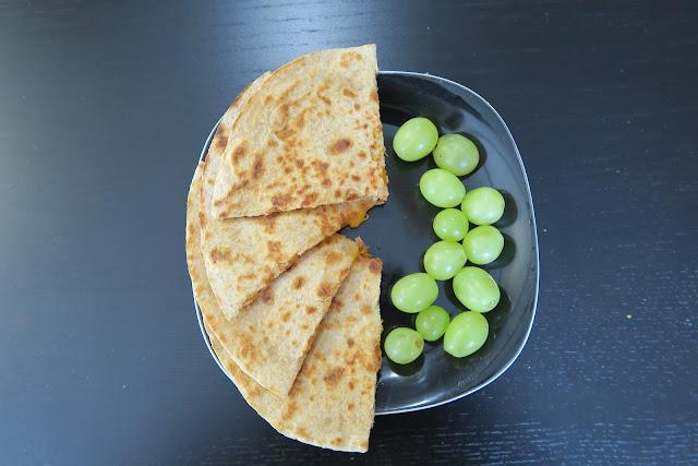 quesadilla with grapes
