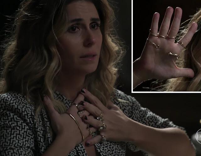 Atena (Giovanna Antonelli) anel  em A regra do jogo