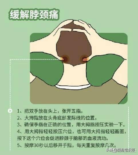 適合上班族和久坐族的十個按摩手法,要好好地照顧自己呦!(頭痛、胸痛)