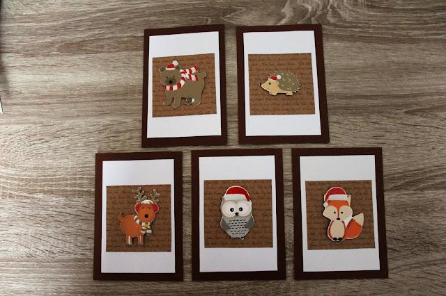 Yksinkertaiset ja helpot joulukortit