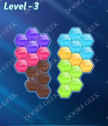 Block! Hexa Puzzle [6 Mania] Level 3 Solution, Cheats, Walkthrough for android, iphone, ipad, ipod