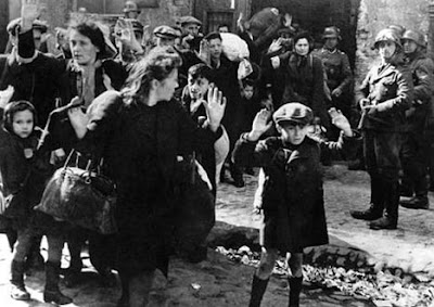 WARSAW GHETTO UPRISING - JEWISH WOMEN AND CHILDREN SURRENDER