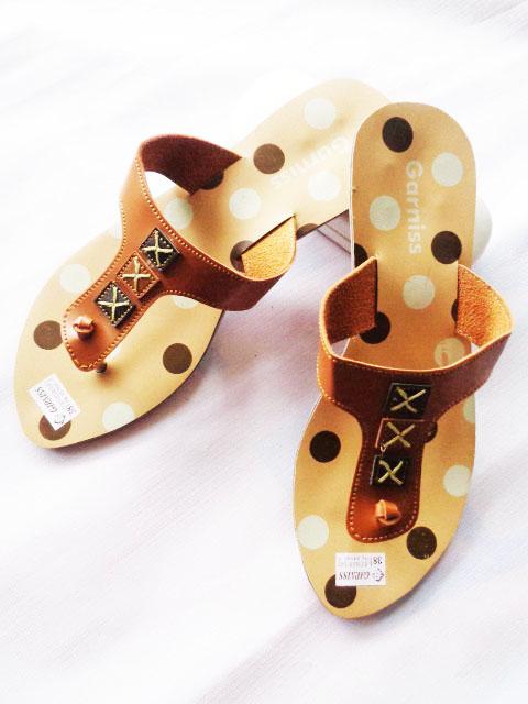 Sandal murah online Garniss Fiber wanita polkadot x