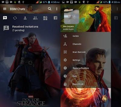 BBM Mod Doctor Strange Theme V3.2.0.6 Apk