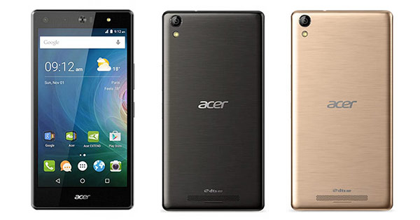 Acer Liquid X2 Specifications - LAUNCH Announced 2015, April DISPLAY Type IPS LCD capacitive touchscreen, 16M colors Size 5.5 inches (~69.0% screen-to-body ratio) Resolution 720 x 1280 pixels (~267 ppi pixel density) Multitouch Yes BODY Dimensions 153.3 x 78.8 x 8.5 mm (6.04 x 3.10 x 0.33 in) Weight 166 g (5.86 oz) SIM Triple SIM (Micro-SIM) PLATFORM OS Android OS, v5.1 (Lollipop) CPU Octa-core 1.3 GHz Cortex-A53 Chipset Mediatek MT6753 GPU Mali-T720MP4 MEMORY Card slot microSD, up to 32 GB (dedicated slot) Internal 32 GB, 3 GB RAM CAMERA Primary 13 MP, f/1.8, autofocus, LED flash Secondary 13 MP, f/1.8, autofocus, LED flash Features Geo-tagging, touch focus, face detection Video 1080p NETWORK Technology GSM / HSPA / LTE 2G bands GSM 850 / 900 / 1800 / 1900 3G bands HSDPA 900 / 1900 / 2100 - Europe, Taiwan    HSDPA 850 / 1700(AWS) / 1900 - PA 4G bands LTE 800 / 1800 / 2100 / 2600 - Europe    LTE 700 / 900 / 1800 - Taiwan Speed HSPA 42.2/5.76 Mbps, LTE Cat4 150/50 Mbps GPRS Yes EDGE Yes COMMS WLAN Wi-Fi 802.11 b/g/n, hotspot GPS Yes, with A-GPS USB microUSB v2.0 Radio FM radio Bluetooth v4.0, A2DP, LE FEATURES Sensors Accelerometer, proximity, compass Messaging SMS (threaded view), MMS, Email, Push Email Browser HTML5 Java No SOUND Alert types Vibration; MP3, WAV ringtones Loudspeaker Yes 3.5mm jack Yes  - 24-bit/192kHz audio - DTS HD sound - Active noise cancellation with dedicated mic BATTERY  Removable Li-Po 4020 mAh battery Stand-by Up to 820 h (3G) Talk time Up to 23 h (3G) Music play -  MISC Colors Black, Gold Features - MP3/WAV/AAC player - MP4/H.264 player - Document viewer - Photo/video editor