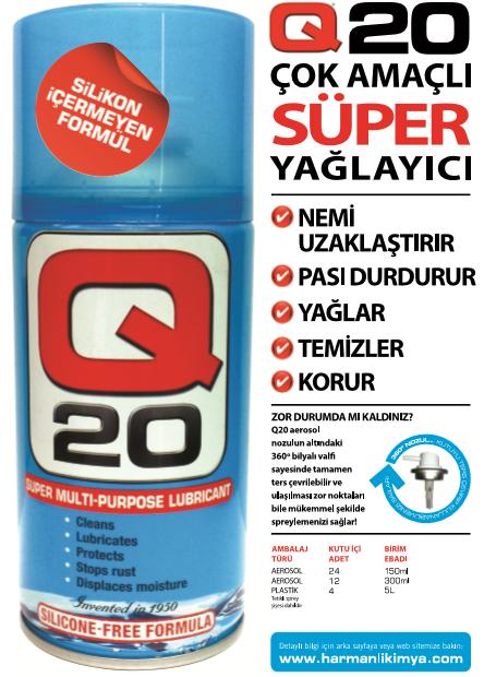 Q20 Çok Amaçlı Süper Yağlayıcı