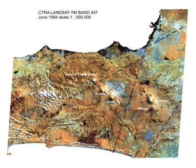 zona-zona lemah yang menyebabkan magma dapat menuju permukaan