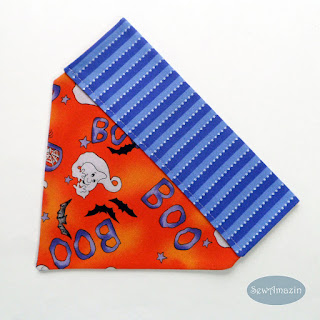 Halloween Ghosts Over the Collar Dog Bandana