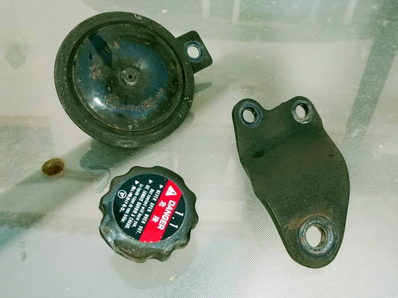piezas oxidadas
