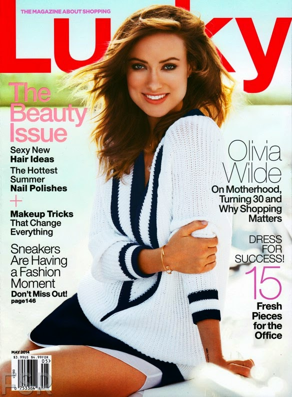 Lucky Magazine May 11: Sophie's Fashion Blog: Olivia Wilde