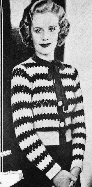 The Vintage Pattern Files: Free 1930s Knitting Pattern - An Adorable Little Jumper