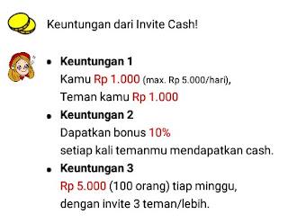 keuntungan invite cash
