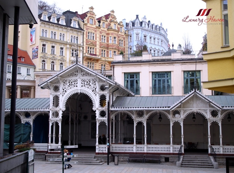 czech republic karlovy vary market colonnade white building