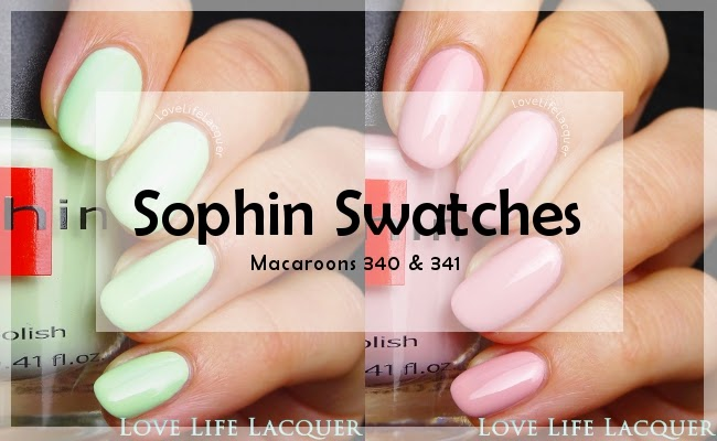 Sophin Macaroons swatch by @lovelifelacquer