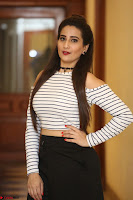 Manjusha in sleevelss crop top and black skirt at Darshakudu pre release ~  Exclusive Celebrities Galleries 096.JPG