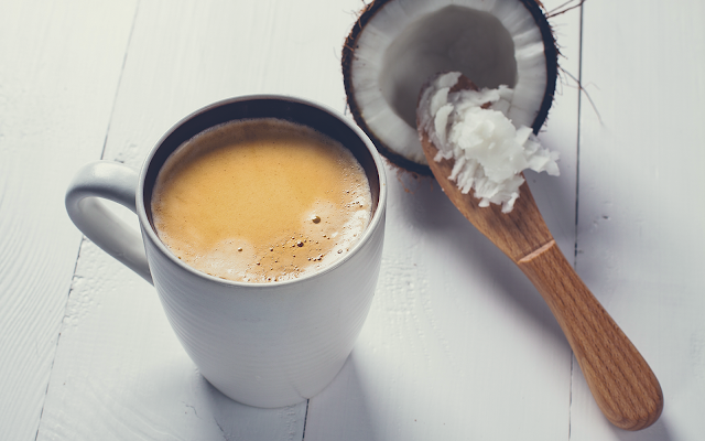 Coconut Oil and Cinnamon Coffee