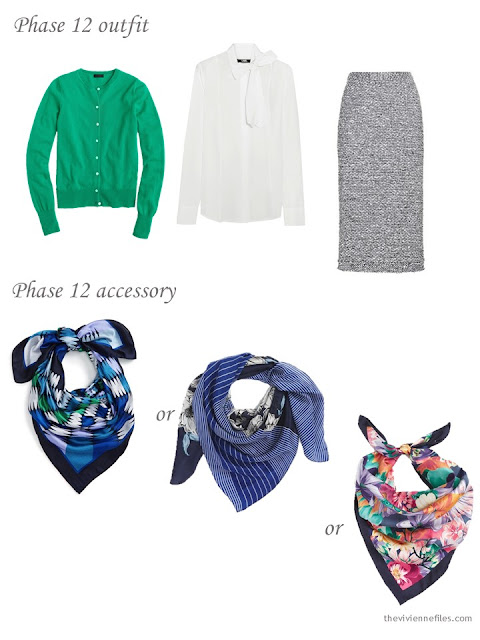 How to add a silk scarf to a business capsule wardrobe