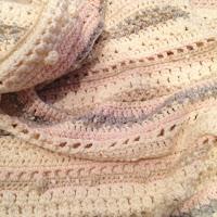編み図が無いフリースタイルブランケット